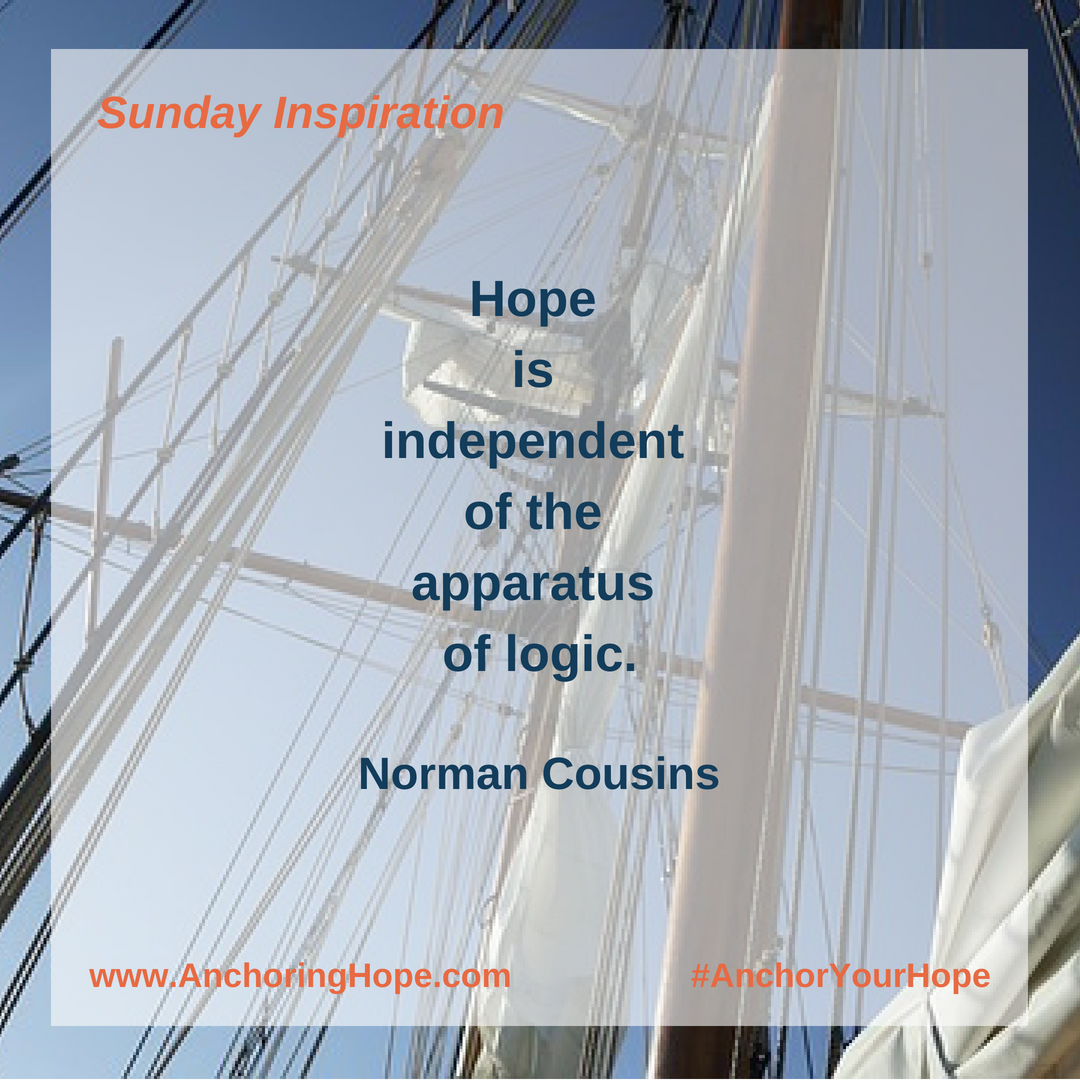Norman Cousins Hope Quote