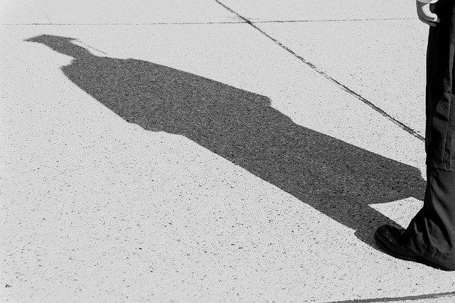 Lone Graduate's Shadow